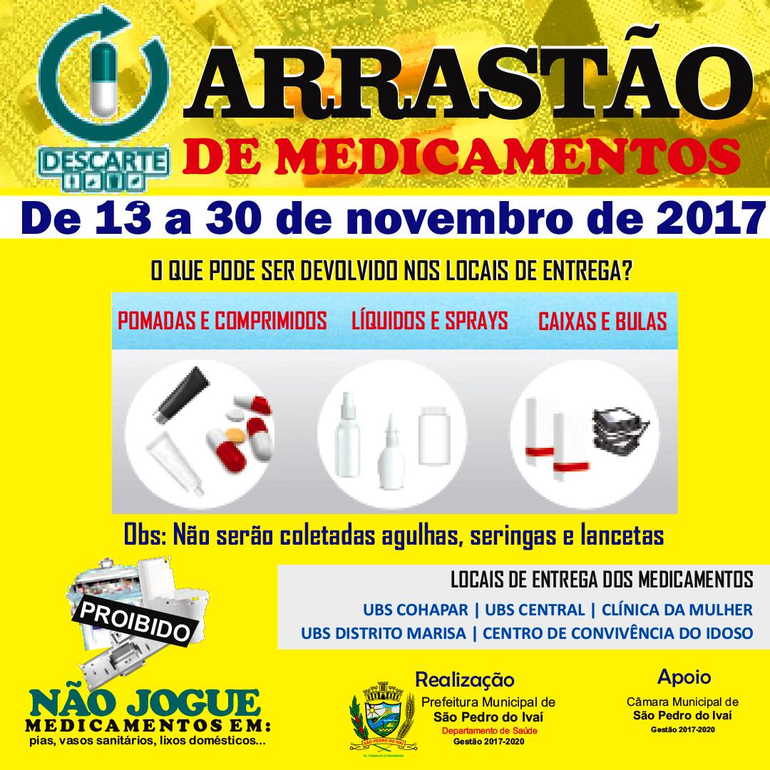 ARRASTÃO DE MEDICAMENTOS