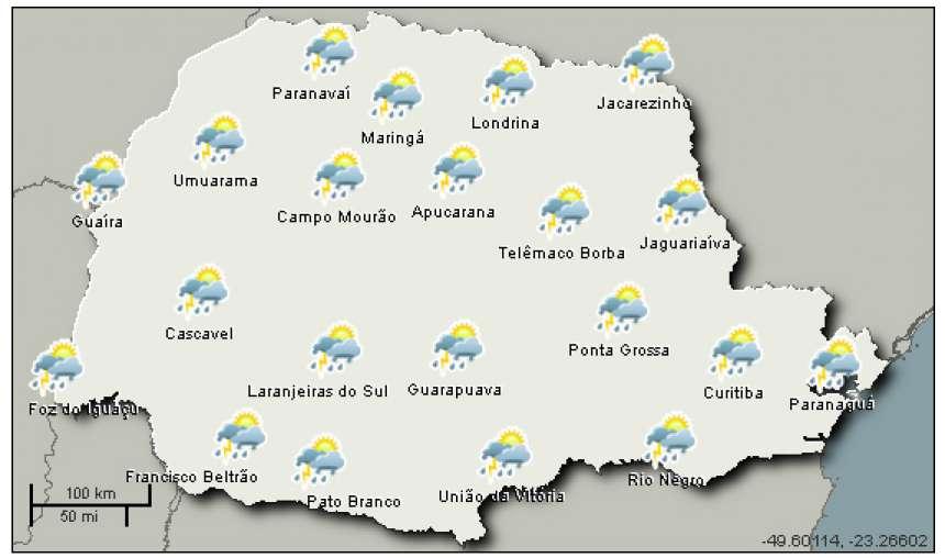 Nova frente fria avança e clima continua instável no Paraná