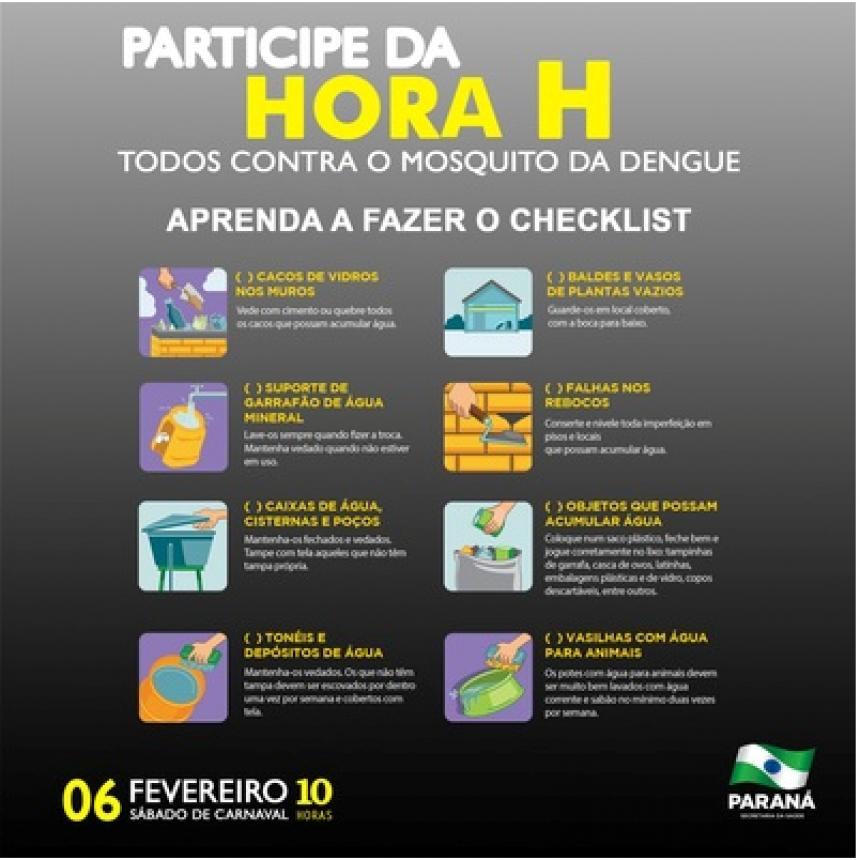 Paraná terá Hora H de combate ao mosquito da dengue