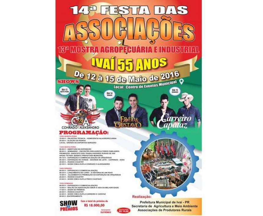 14ª Festa das Associações 13ª Mostra Agropecuaria e Industrial