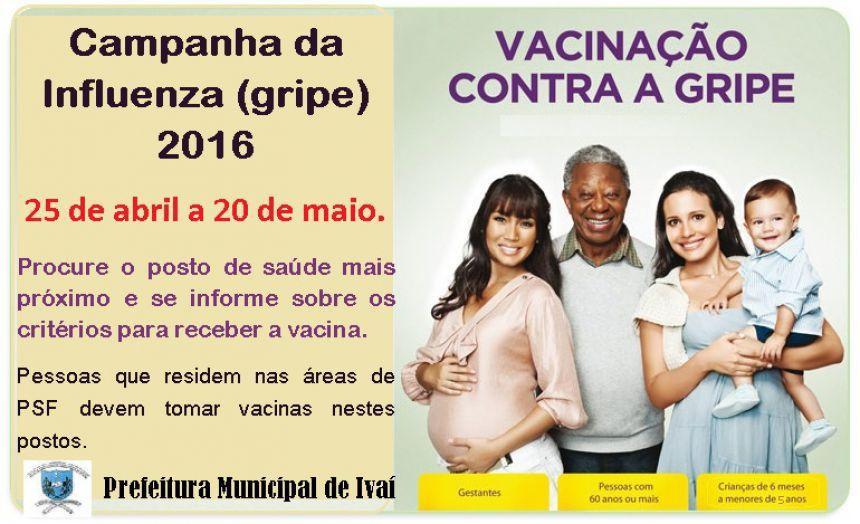 Campanha da Influenza (gripe) 2016