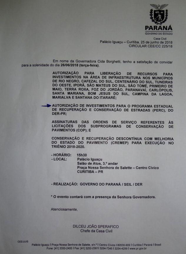 RECUPERAÇÃO DA RODOVIA PRC-522 DE IVAÍ ATÉ A BR 373