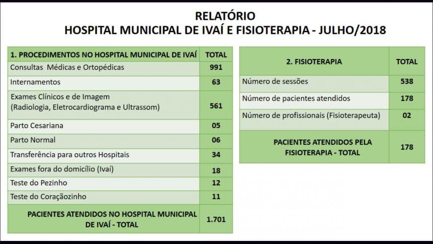 PROCEDIMENTOS DE SAÚDE NO HOSPITAL MUNICIPAL, FISIOTERAPIA E NUMERO DE MÉDICOS CONTRATADOS PELO MUNICÍPIO