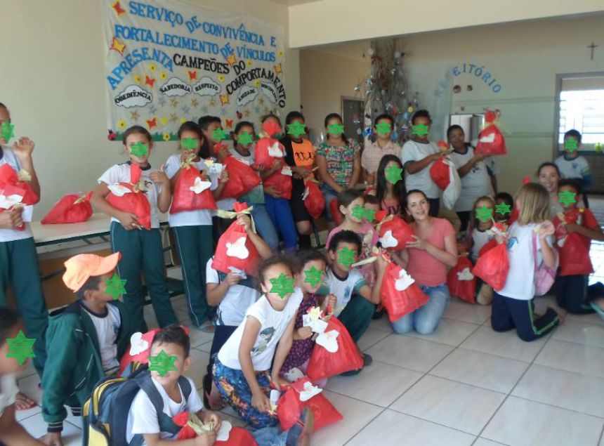 SCFV REALIZA CONFRATERNIZAÇÃO DE NATAL PARA CRIANÇAS E ADOLESCENTES
