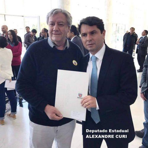 DEPUTADO ALEXANDRE CURI COMEMORA A LIBERAÇÃO DE RECURSOS PARA IVAÍ R$ 438.800,00