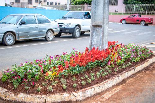 Manutenção dos Canteiros Centrais e Praça Municipal