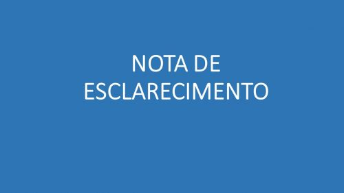 NOTA DE ESCLARECIMENTO - CAIXAS DE GORDURA