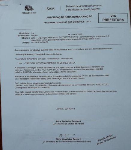 Ivaí Ganha R$ 50.000,00 para Aquisição de Automóveis