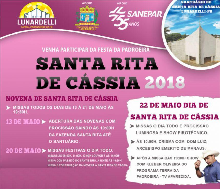 Programação - Festa de Santa Rita de Cássia