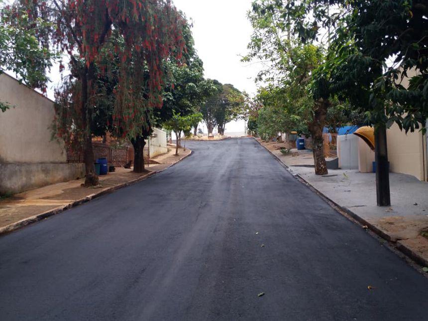 Recape finalizado na Rua Aparecida Dal Col