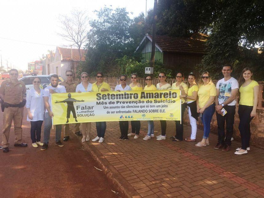 Secretaria de Saúde realiza ações do Setembro Amarelo