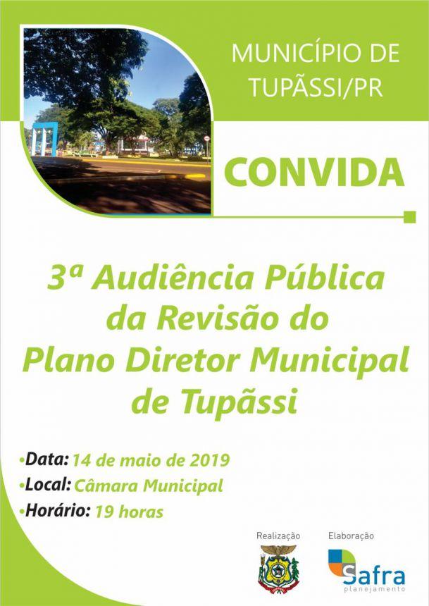 Tupãssi realiza nova Audiência Pública da Revisão do Plano Diretor