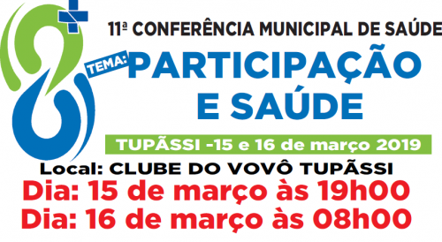 11ª Conferência Municipal de Saúde acontece nesta semana