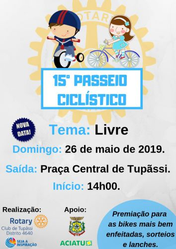Passeio Ciclístico será realizado em Tupãssi no próximo domingo