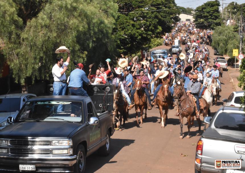 3ª Cavalgada Ecológica de Rio Bom reuniu mais de 250 cavleiros e amazonas de toda a região, além de outros estados