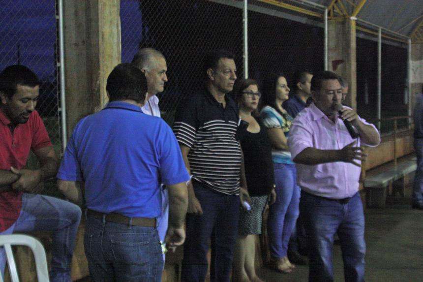 O popular Grilo, assessor do deputado federal Sérgio Souza (PMDB), também marcou presença no evento