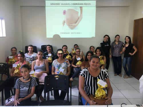 Gravidez saudável foi tema de grupo das gestantes nessa quinta-feira (2/5)