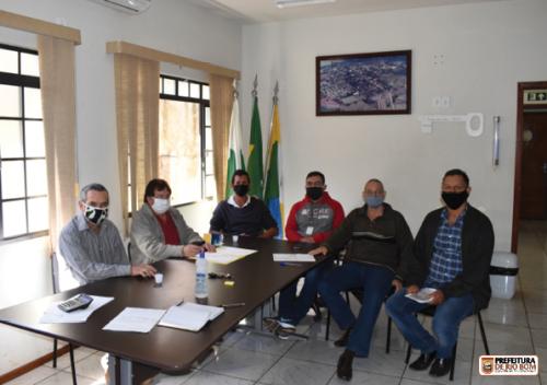 Em reunião com secretários, prefeito Ene colocou em pauta o recape asfaltico das principais vias municipais