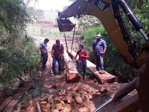 Reconstrução de ponte - Bairro dos Arjonas