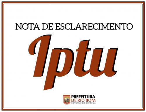 Notificação de IPTU atrasado
