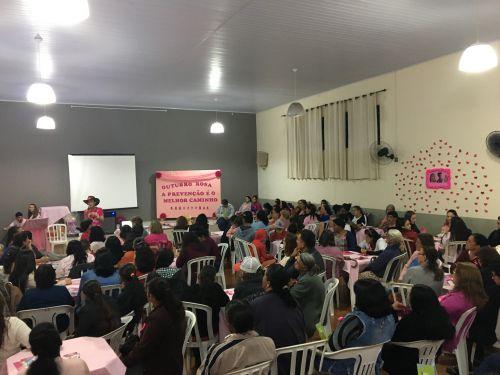 Autarquia Municipal de Saúde reúne 200 pessoas em evento de prevenção ao câncer da mulher