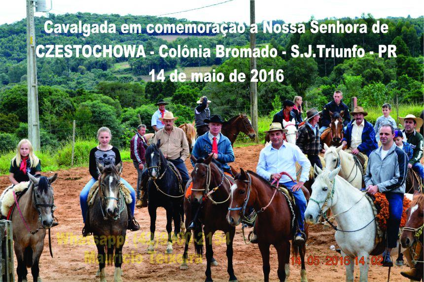 Cavalgada e Missa em comemoração ao dia da Nossa Senhora de CZESTOCHOWA na comunidade de Colônia Bromado