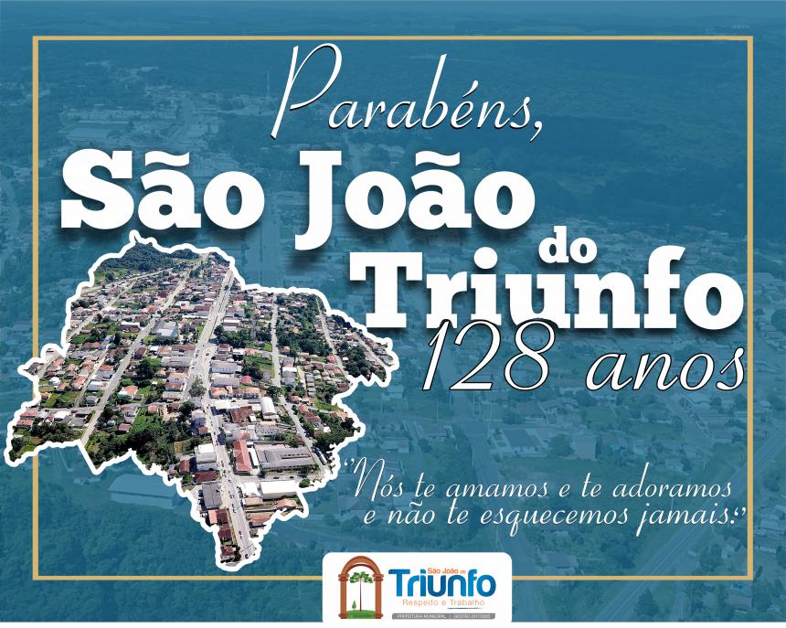 128 anos de emancipação política  de São João do Triunfo