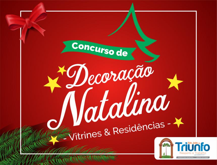 Prefeitura lança concurso de decoração Natalina de vitrines e residências
