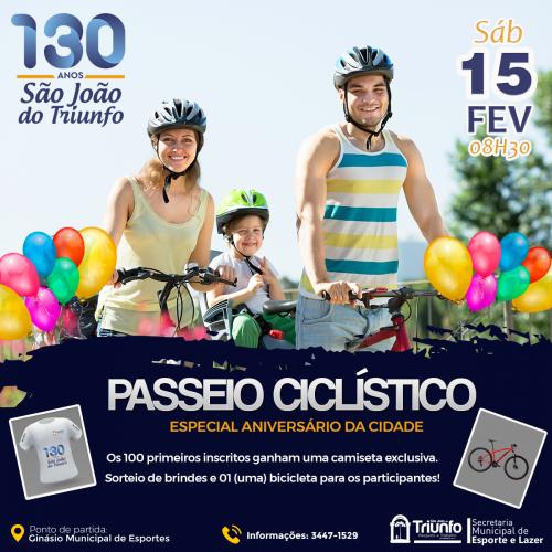 Passeio ciclístico em comemoração aos 130 anos de São João do Triunfo