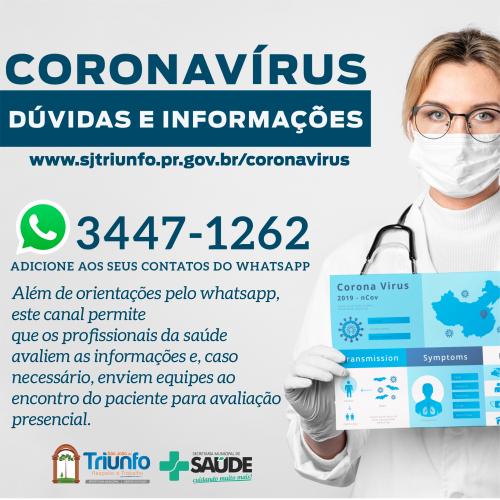 CORONAVÍRUS / SÃO JOÃO DO TRIUNFO | FIQUE INFORMADO!