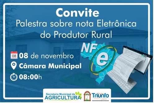 Palestra sobre Nota Eletrônica do Produtor Rural