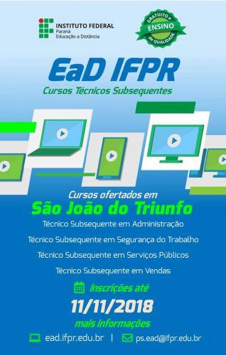 IFPR oferece cursos técnicos gratuitos