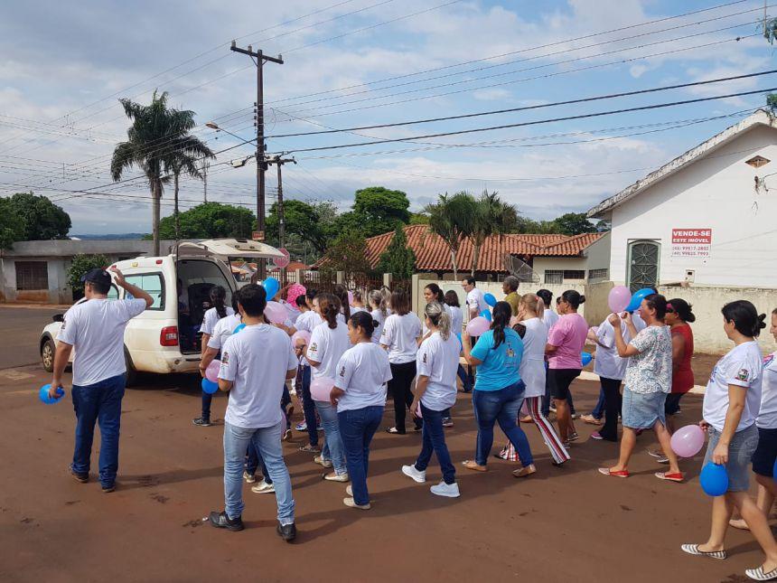 PASSEATA DE CONSCIENTIZAÇÃO A PREVENÇÃO DO CÂNCER DE MAMA E PRÓSTATA.