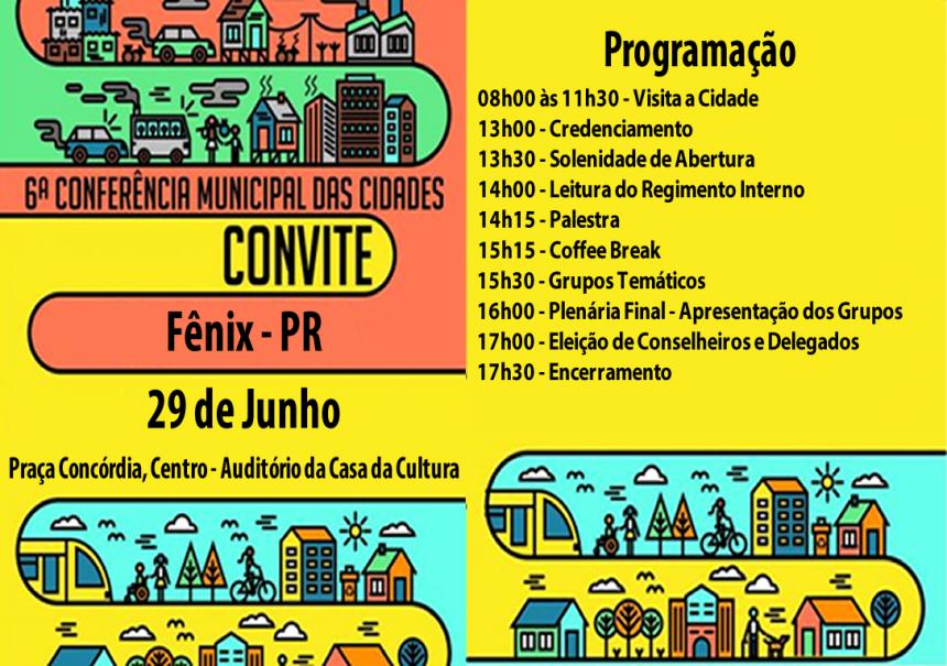 6ª Conferência das Cidades - Etapa Municipal