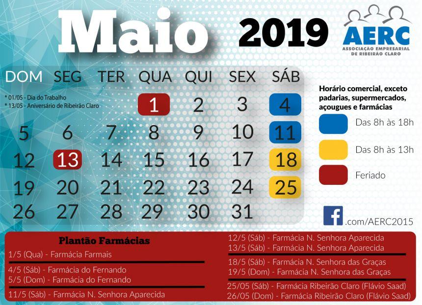 Calendario AERC - MAIO