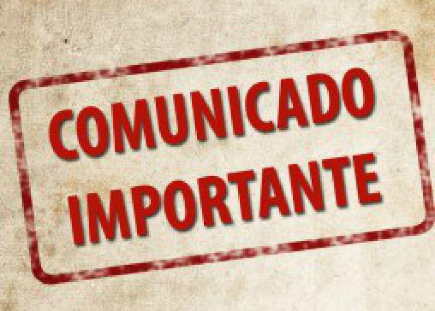 COMUNICADO IMPORTANTE SAAE