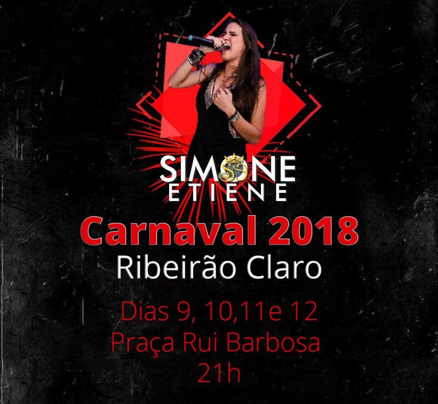 Carnaval 2018 terá shows da Banda Simone Etiene