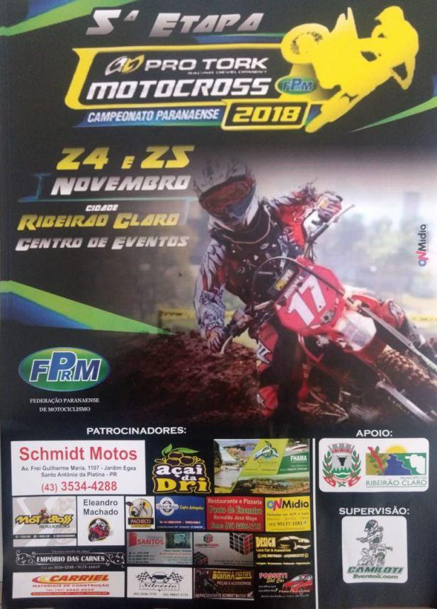 5ª Etapa do Campeonato Paranaense de Motocross em Ribeirão Claro