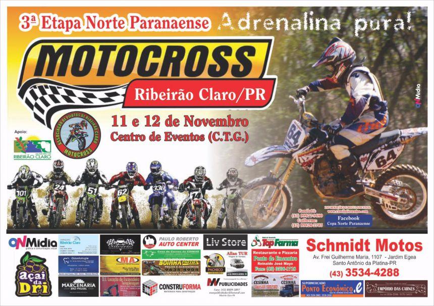 3ª etapa da Copa Norte Paranaense de Motocross começa no próximo sábado