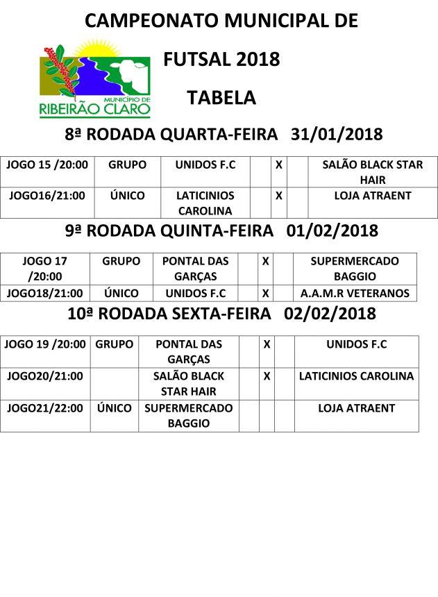 Campeonato de Futsal 2018 terá premiação de R$ 700 para equipe campeã