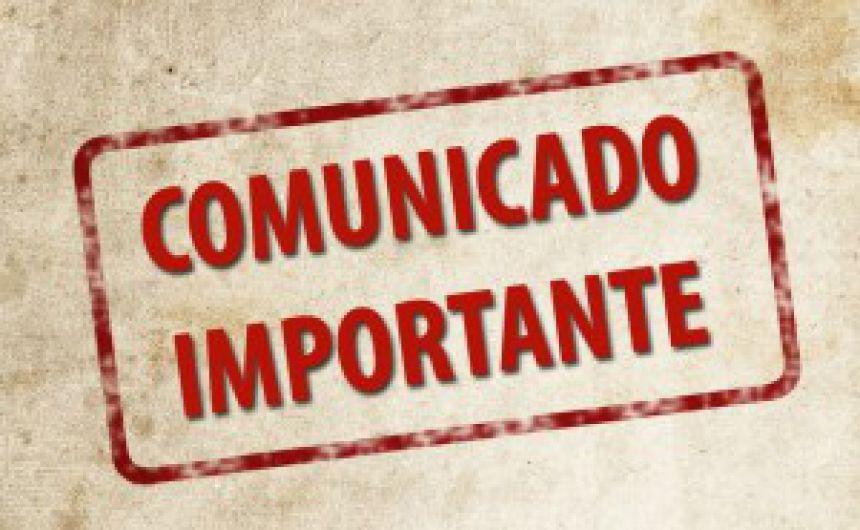 Comunicado - Suspensão da coleta de lixo no dia 12 de outubro