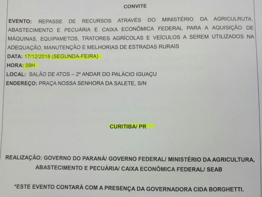 Ribeirão Claro terá nova retroescavadeira para manutenção de estradas rurais