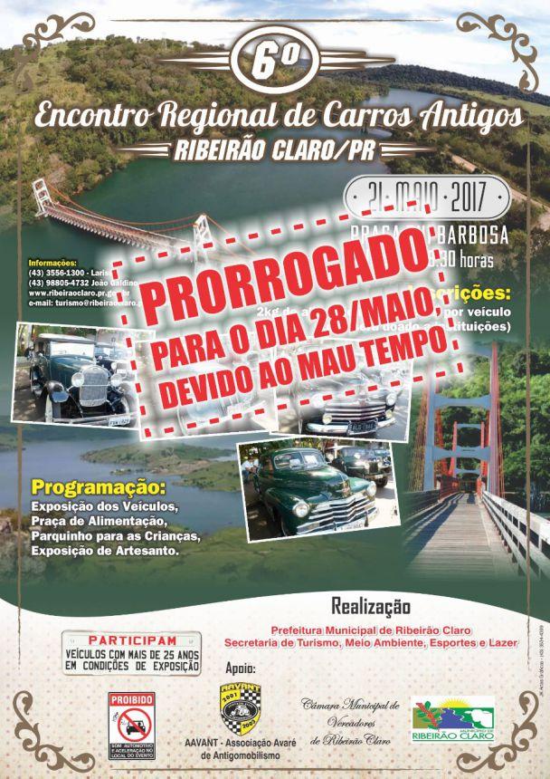 6º Encontro Regional de Carros Antigos - PRORROGADO