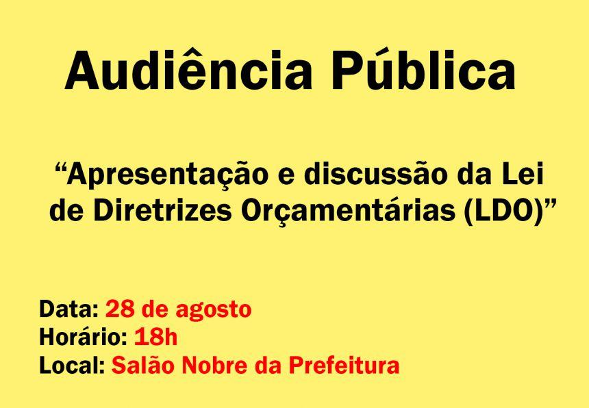 Audiência Pública - LDO