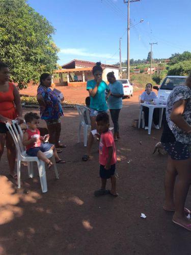 Cras Itinerante leva equipes da Saúde e Assistência Social ao à Vila Rural Otávio Salvador
