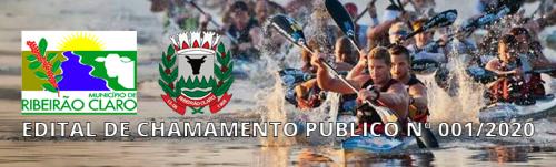 EDITAL DE CHAMAMENTO PÚBLICO Nº 001/2020 - CANOAGEM