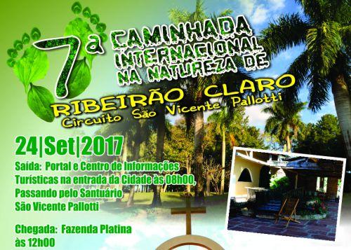 Abertas as inscrições para a 7ª Caminhada Internacional na Natureza em Ribeirão Claro