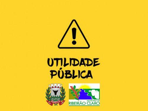 Aviso de utilidade pública - Laticínio