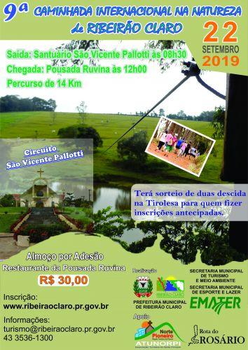 9ª Caminhada Internacional na Natureza acontecerá no dia 22 de setembro