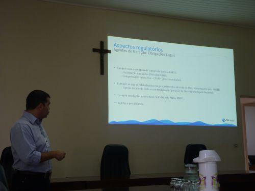 CTG Brasil apresenta palestra sobre funcionamento da Hidrelétrica